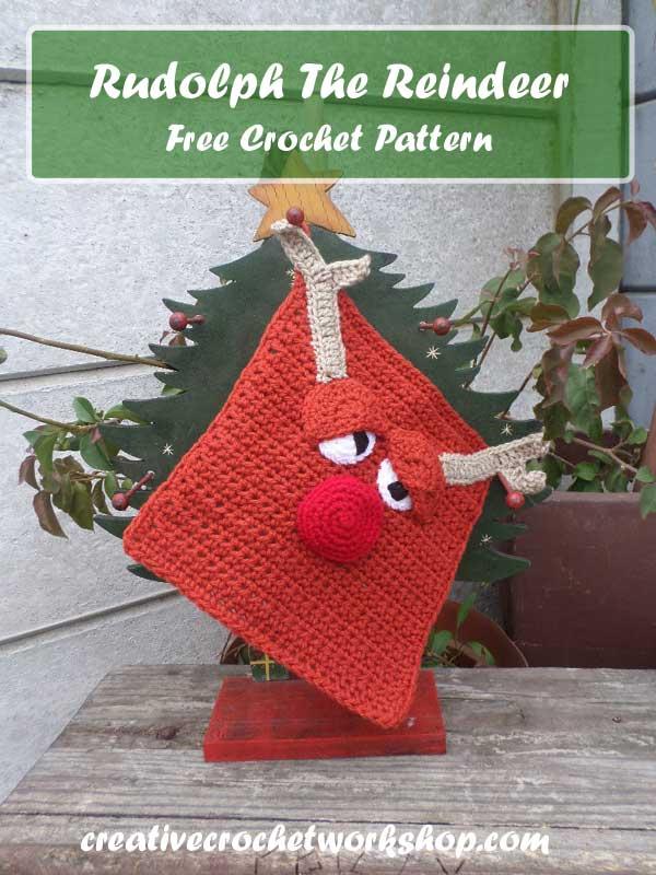 Rudolph The Reindeer | Free Crochet Pattern | American Crochet @americancrochet.com @creativecrochetworkshop.com #contributorpost #freecrochetpattern