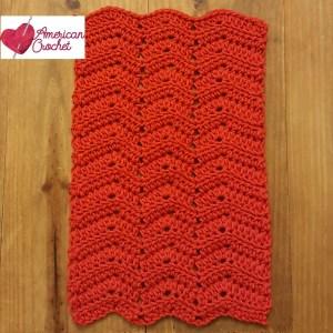 Ripple Washcloth   Free Crochet Pattern   American Crochet @americancrochet.com #freecrochetpattern