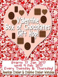 Valentine Box of Chocolates Gift Hop! Free Crochet Patterns @americancrochet.ocm @creativecrochetworkshop.com