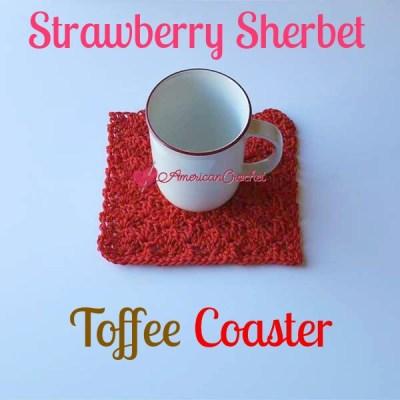 Strawberry Sherbet Toffee Coaster
