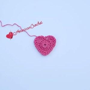 Creamy Truffle Heart Coaster | Crochet Pattern | American Crochet @americancrochet.com #crochetpattern