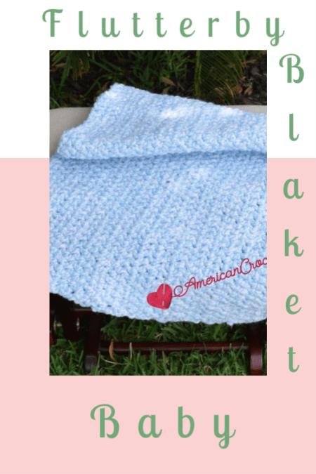 Flutterby Baby Blanket | American Crochet @americancrochet.com