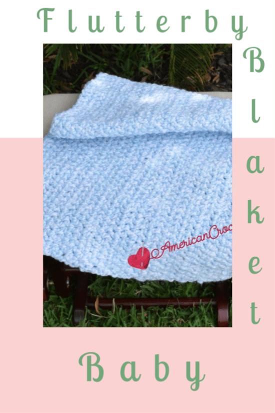 Flutterby Baby Blanket | Crochet Pattern | American Crochet @americancrochet.com