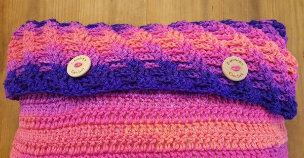 Rainbow Twist Pillow Cover | American Crochet @americancrochet.com
