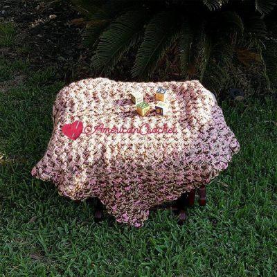 Soft Cherry Steps Baby Blanket
