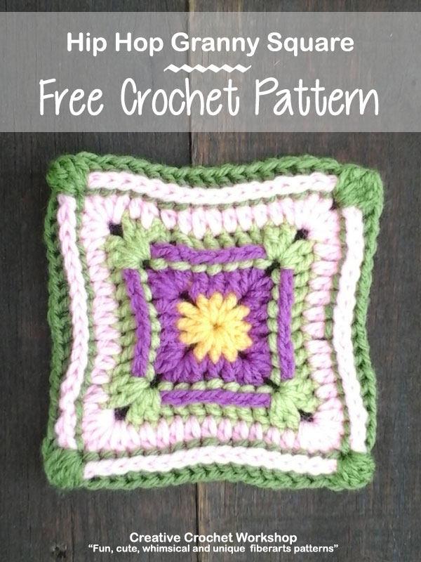 Hip Hop GrannySquare - Free Crochet Pattern | Creative Crochet Workshop @creativecrochetworkshop |American Crochet @americancrochet #grannysquare #freecrochetpattern #groovygrannysquarecal