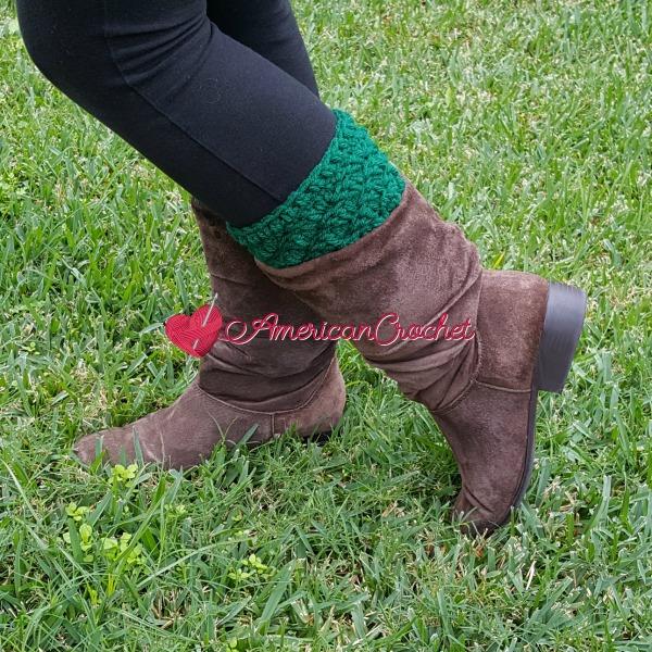 Thermal Bootcuffs | Free Crochet Pattern | American Crochet @americancrochet.com#freecrochetpattern