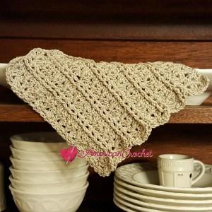 Vintage Lace Shells Dishcloth | Free Crochet Pattern | American Crochet @americancrochet.com #freecrochetpattern