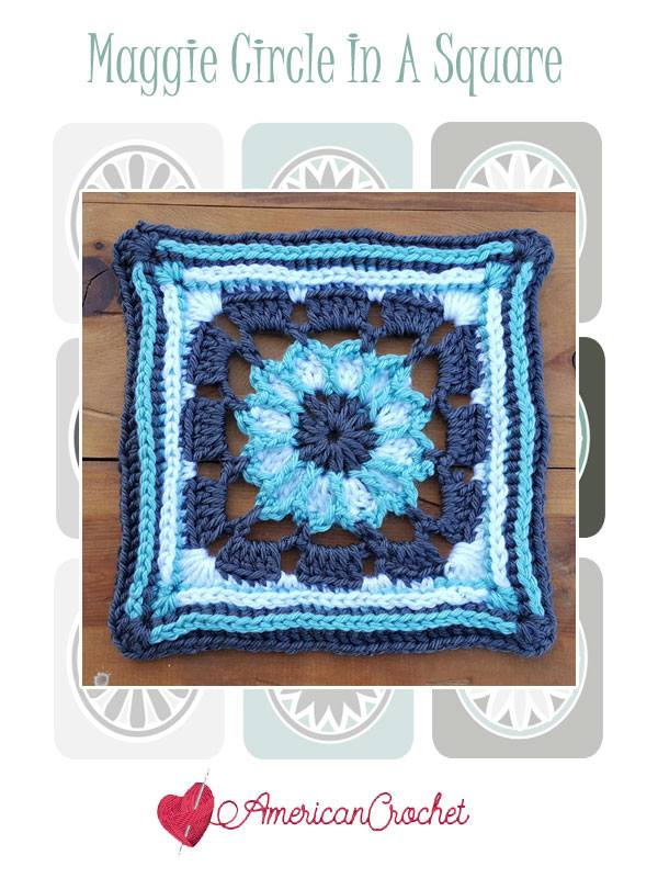 Maggie Circle in A Square | Free Crochet Pattern | American Crochet @americancrochet.com #freecrochetpattern