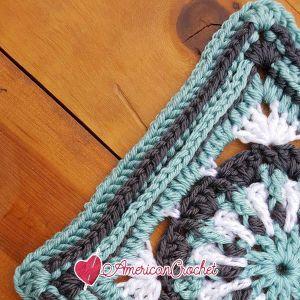 Lily Mae Circle in A Square   Free Crochet Pattern   American Crochet @americancrochet.com #freecrochetpattern #freecrochetalong