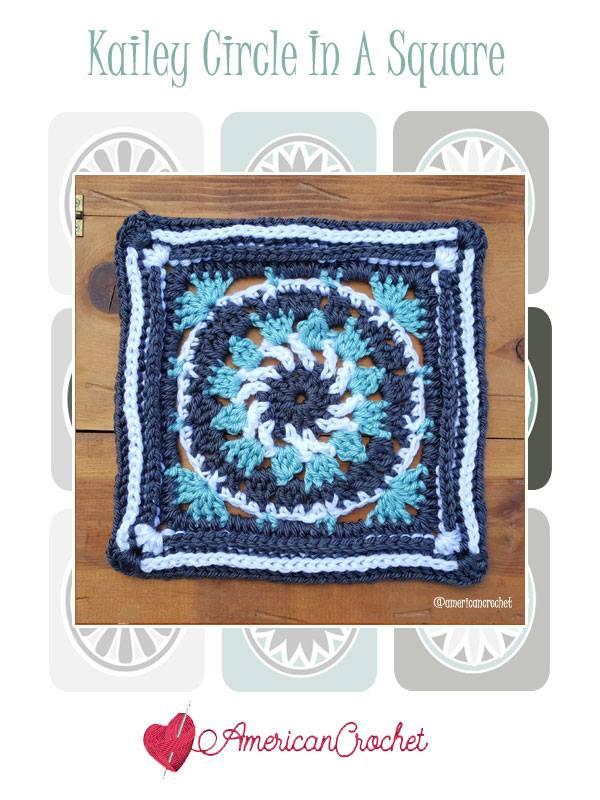 Kailey Circle in A Square | Free Crochet Pattern | American Crochet @americancrochet.com #freecrochetpattern #freecrochetalong