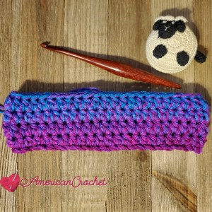 Simply Christmas Stocking | Crochet Pattern | American Crochet @americancrochet.com #crochetpattern