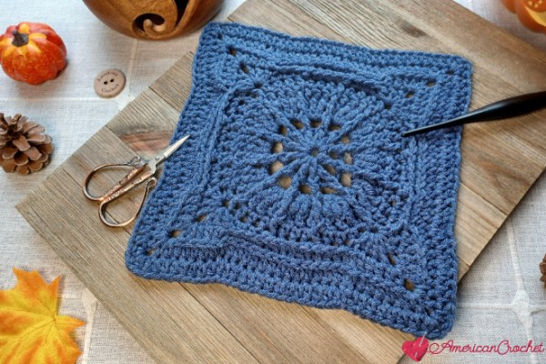 Oyster Square | Crochet Pattern | American Crochet @americancrochet.com