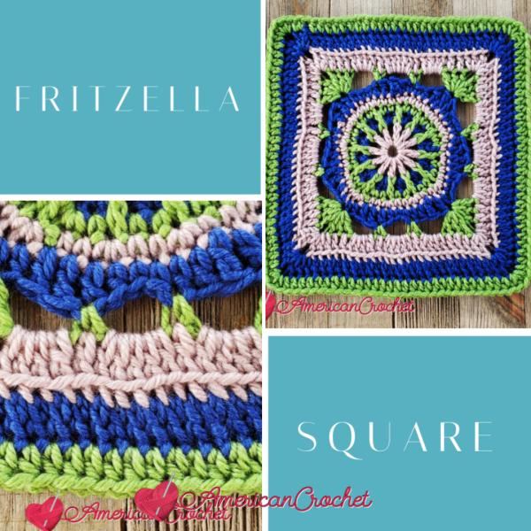 Fritzella Square | Crochet Pattern | American Crochet @americancrochet.com #crochetalong