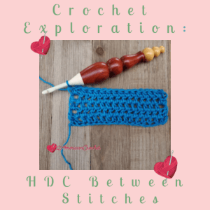 Half Double Crochet Between Stitches | American Crochet @americancrochet.com
