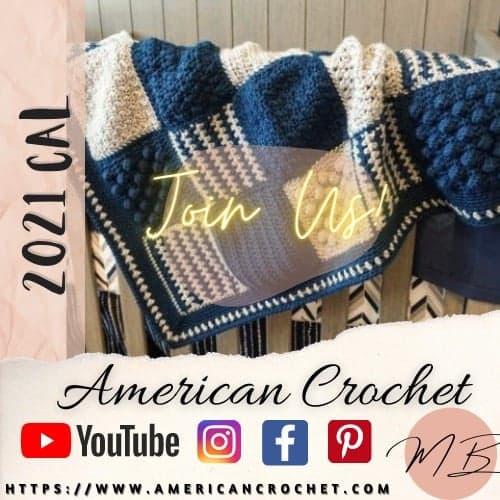 Frosty Kisses Baby Blanket | American Crochet @americancrochet.com #crochetalong
