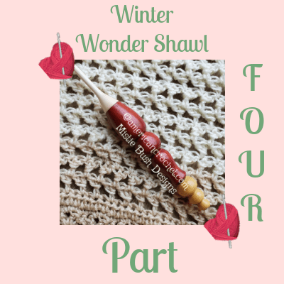 Winter Wonder Shawl Part Four | American Crochet @americancrochet