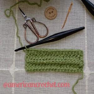 Front Bottom Loop Half Double Crochet | American Crochet @americancrochet.com