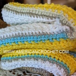 Happy Throw Two Part | American Crochet @americancrochet