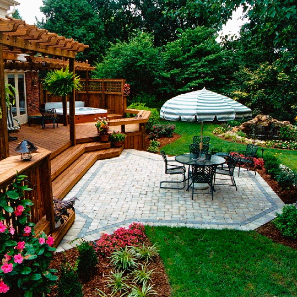   Paver Patios on Deck And Paver Patio Ideas id=76857