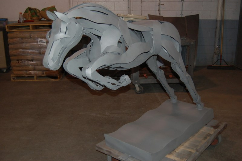 The Marcia Spivak Equine Horse Sculpture, After Dry Abrasive Blasting