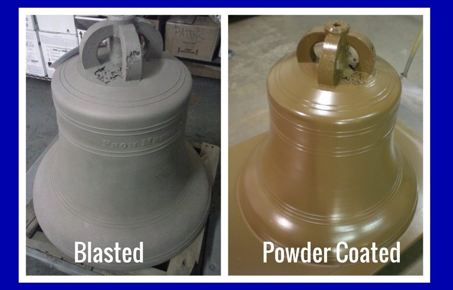 powder coating vintage church bells