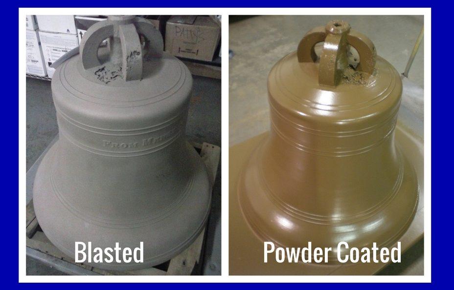 powder coating vintage church bells