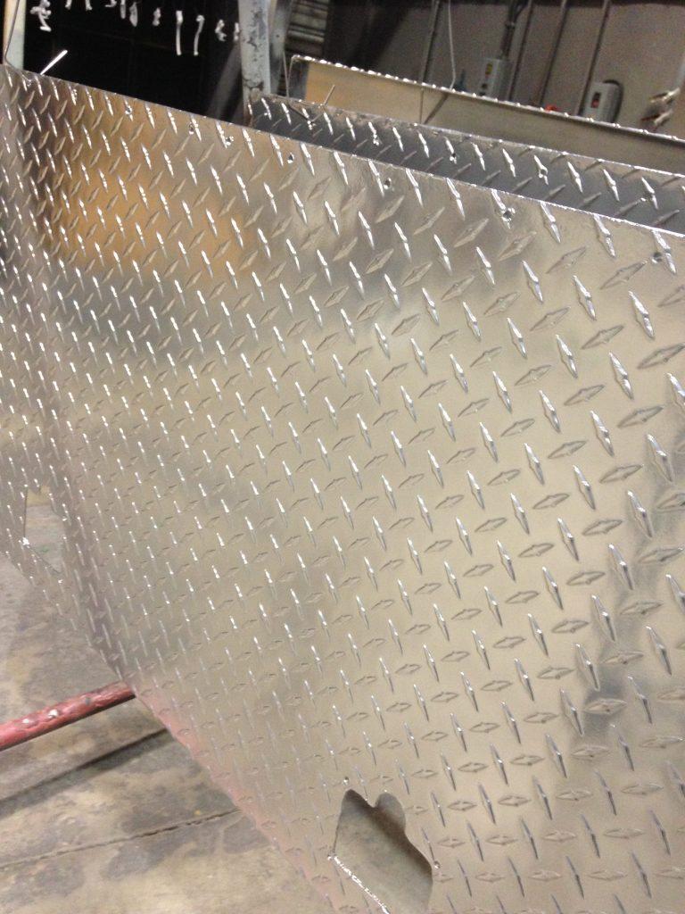 Diamond Plates Coated with Aluminum Chrome Powder Coating - Xtreme Temperature Coatings CT