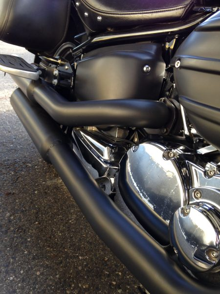 high temperature ceramic coating on motorcycle exhaust