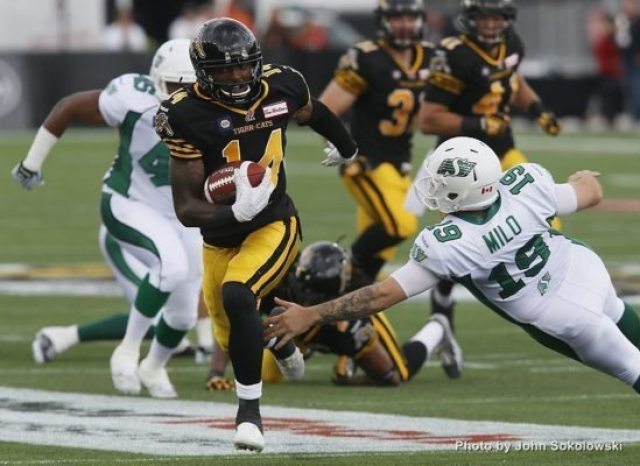 CFL: Saskatchewan Roughriders at Hamilton Tiger-Cats