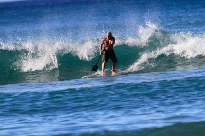 Jeff Reinebold - surfing
