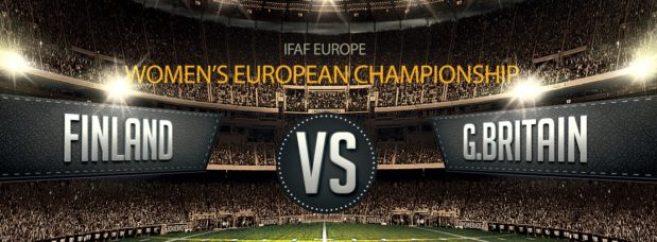 IFAF Europe - Women's EC - Finland v GB banner