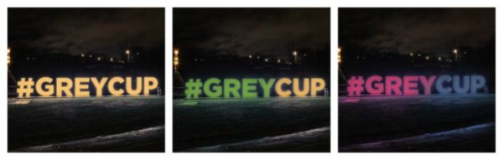 CFL - Grey Cup signs - 3pic