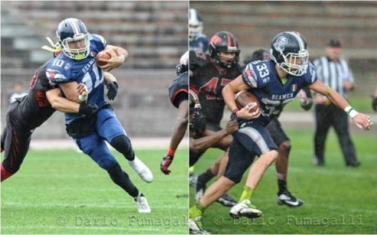 IFAF Europe - 2016 Champions League - Seamen-Wolves - action. - 2pic