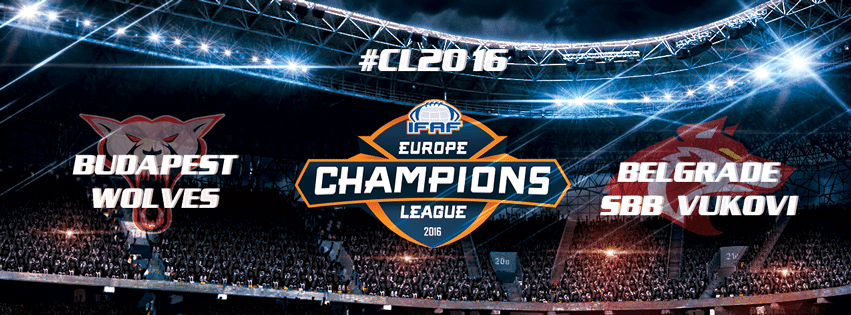 IFAF Europe - 2016 Champions League - Wolves-Vukovi poster
