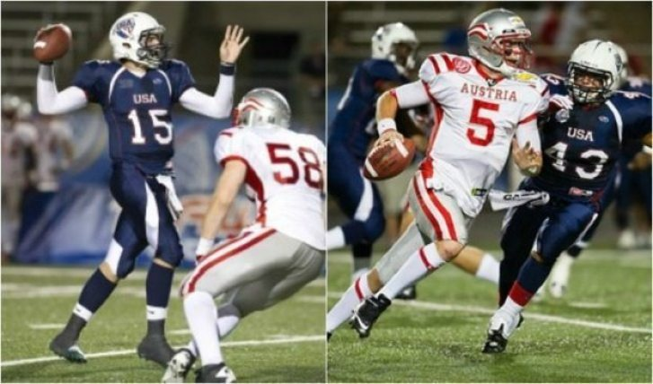 IFAF - Under 19 - USA-Austria - 2012 action - 2pic
