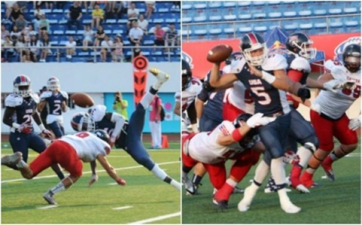 IFAF - Under 19 - Canada-USA action 2016 - 2pic