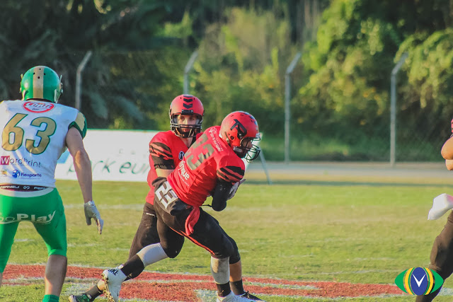 Bassani and Simoes will need to have their RPO and zone game going against Flamengo. Photo credit: Overtime do F.A.