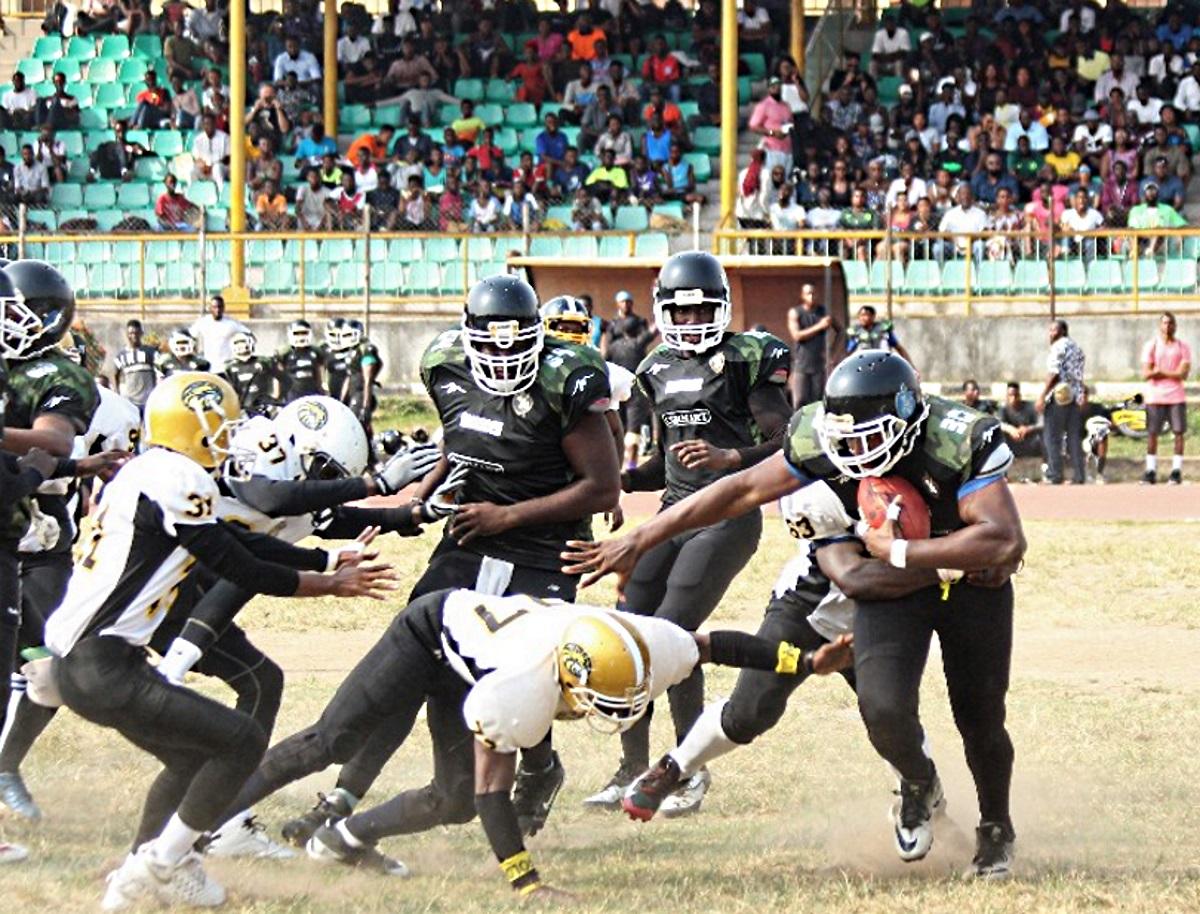 Nigeria Lagos Marines Overwhelm Ivory Coast S Riviera Golf Golden Eagles To Win Sankofa Bowl Ii