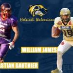 Photo of Finland: Helsinki Wolverines sign William James and Sebastian Gauthier | American Football International