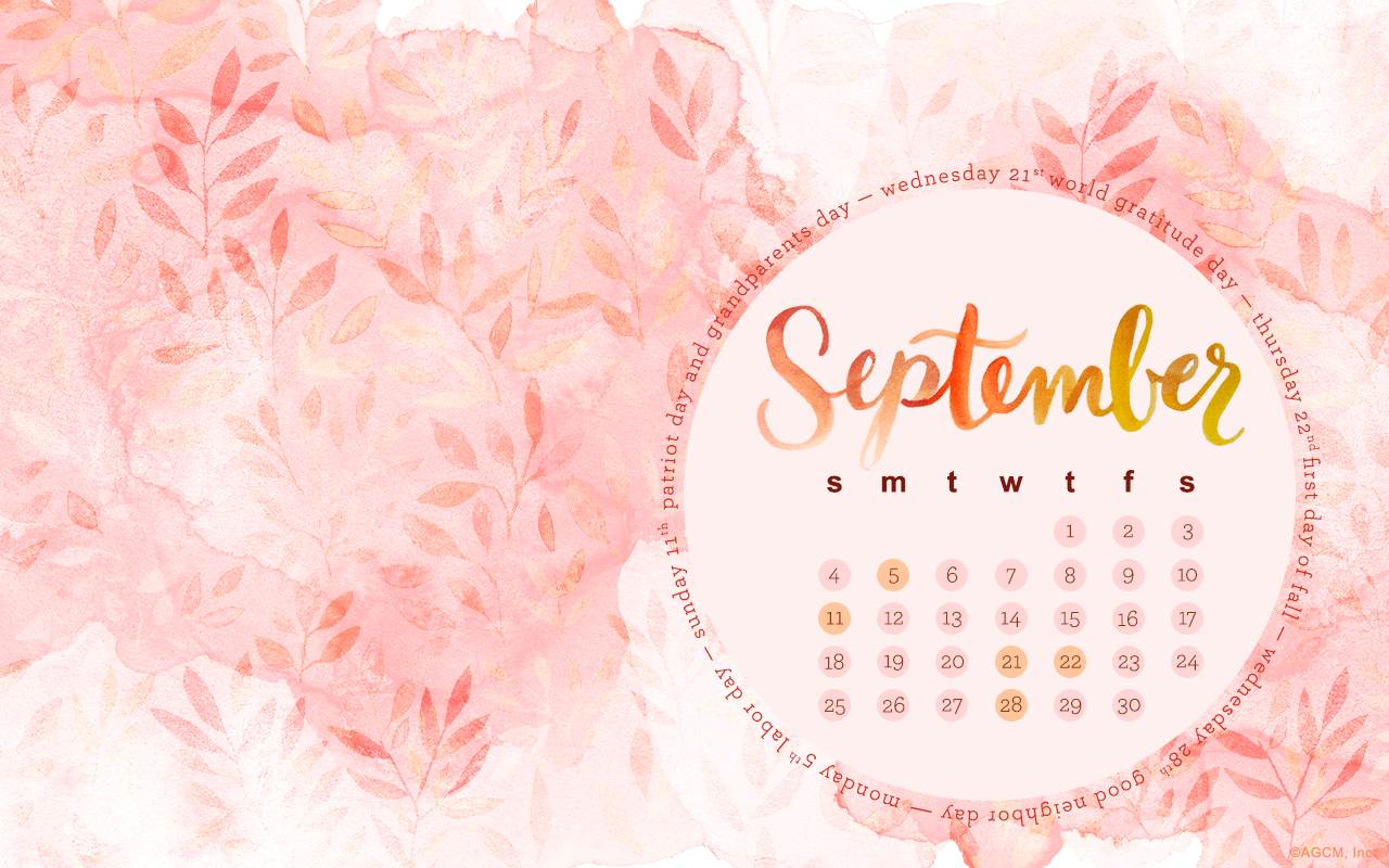 September Desktop Calendar American Greetings Blog