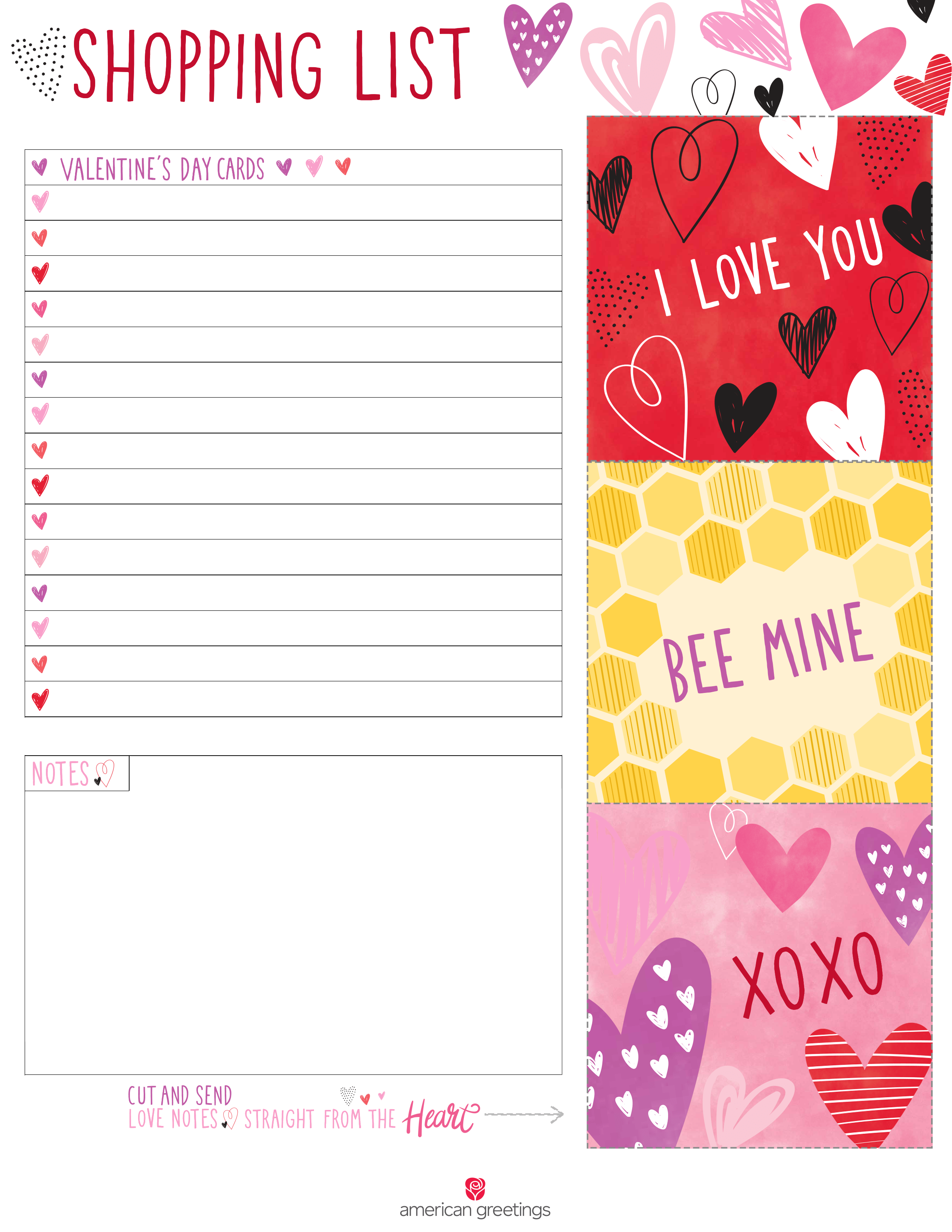 Printable Valentine S Day Shopping List