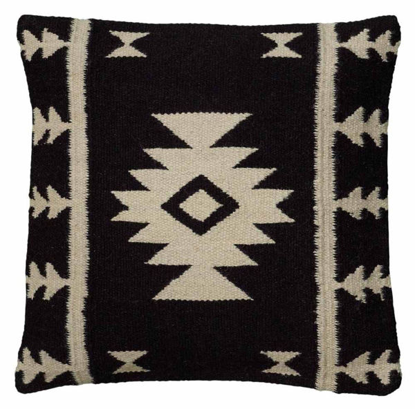 black and white southwest pillow