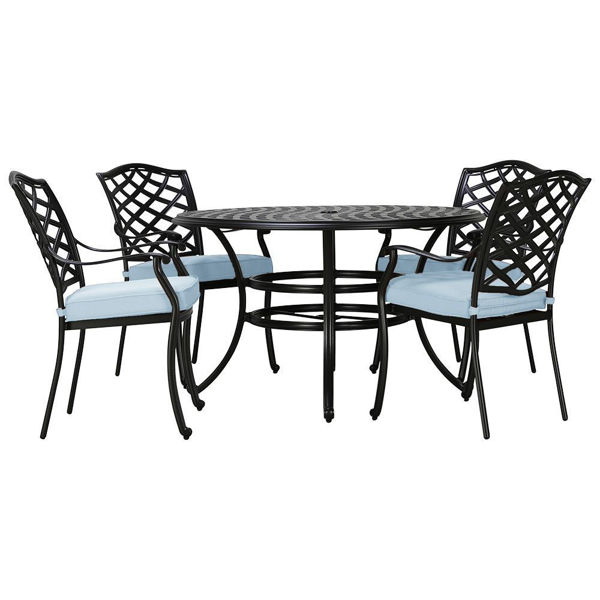 halsey 5 piece outdoor dining set