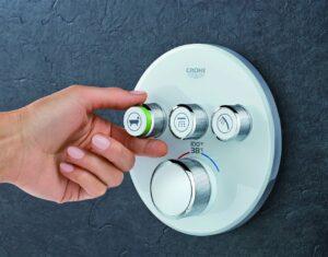 3 shower knobs   American Home Services   bathroom installation Orlando