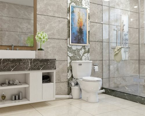 white spacious bathroom | American Home Services | impossible space Orlando