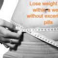 How to lose weight fast in a week without exercise or pills for free