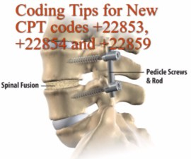 Amazing tips for New CPT codes +22853, +22854 and +22859