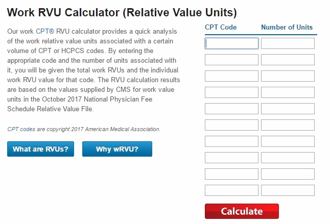 How to Calculate RVUs (Relative Value Units)