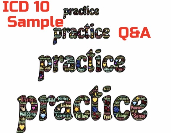Practice ICD 10 Question and Answers 2019 CPC Exams Part 1